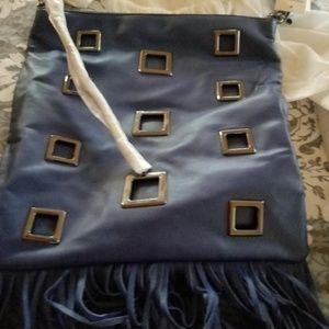 Badgley Mischka Navy Blue Handbag